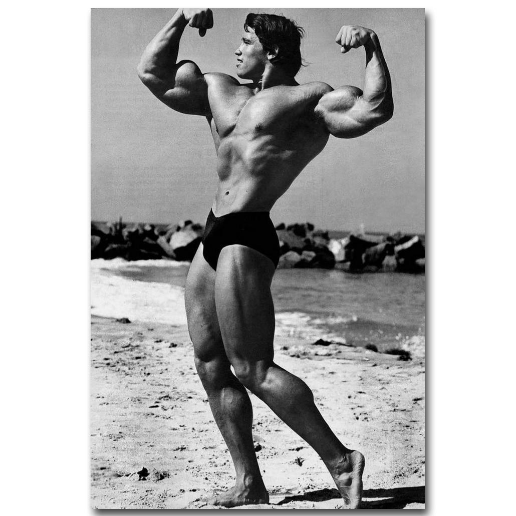 Arnold Schwarzenegger Olympia Bodybuilding Art Silk Cloth Poster 13x18 Decor 001