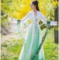 2016 Топ Моды Прямых Продаж Полиэстер Женщины Танцуют Костюмы Хмонг Одежда Hanfu Платье Костюм Для Китайский Древний Девушка