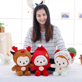 1pcs The New Creative Christmas Deer Lucky Monkey Plush Toys Monkey Mascot Doll Christmas Gifts Children Toy