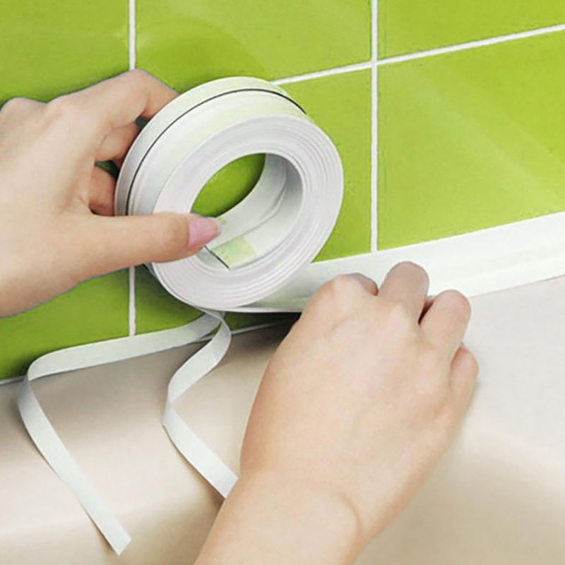 1pcs Dropshipping Wall Sealing Tape Waterproof Mold Proof Adhesive Tape Kitchen Bathroom 3.2mx3.8cm  Bathroom Accessories