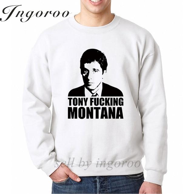 028da390c9e4 Babaseal Tony Fucking Montana Print K-pop Crewneck Sweatshirt Punk Gothic  Men Hoodie Dropshipping Suppliers Usa Mens Clothing
