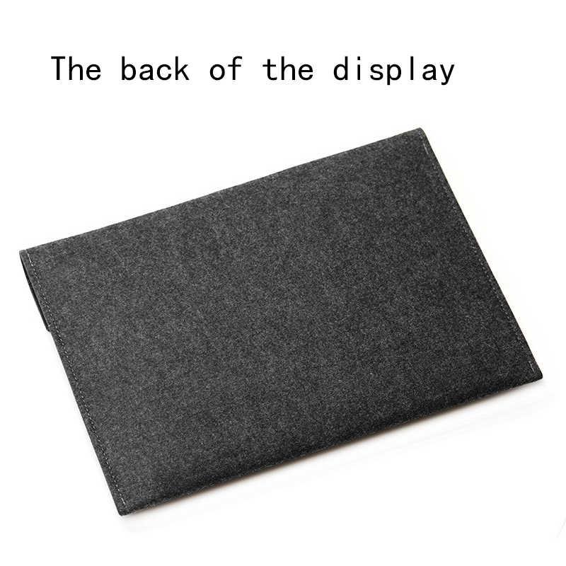 Pochette d'ordinateur en feutre 15.6 étui pour macbook Air 13 Pro Retina 11 12 nouveau 15 tablette tactile pour Xiao mi mi carnet 13.3 couverture