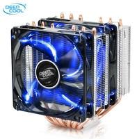 Deepcool 6 Copper Heatpipes CPU Cooler For Intel 115X AMD AM3 AM4 CPU Radiator 12cm Double