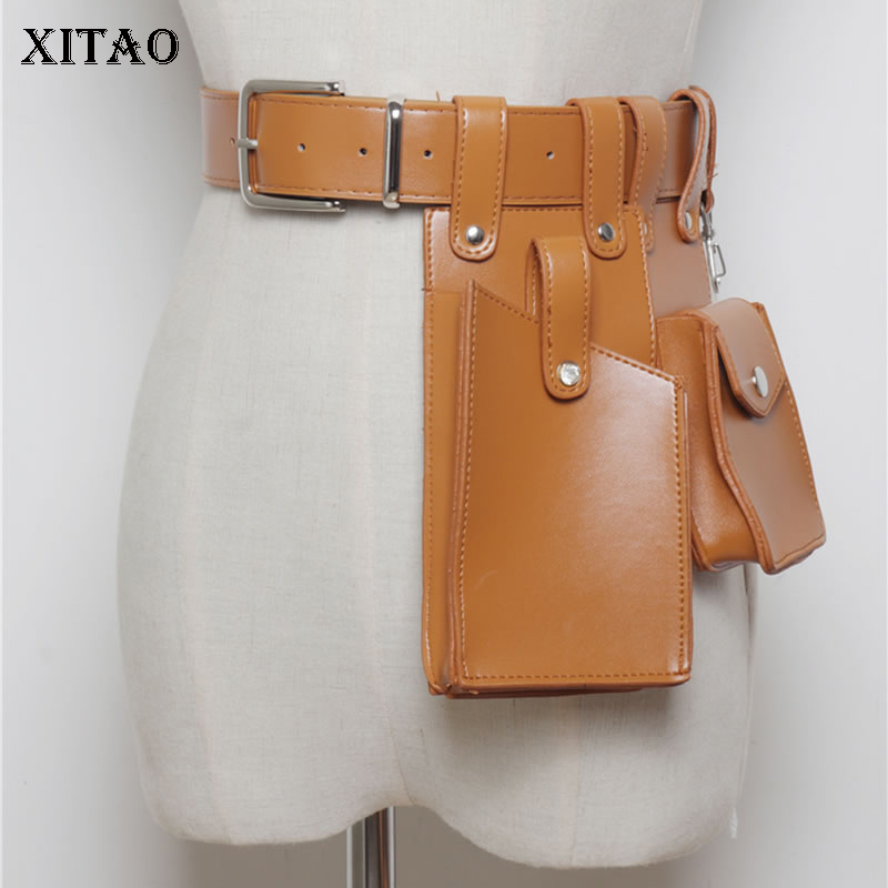 XITAO Trendy Wild Cummerbunds Korea Fashion Classic Multi Purpose Simulation Leather Coin Pocket 2019 Summer New WLD1432