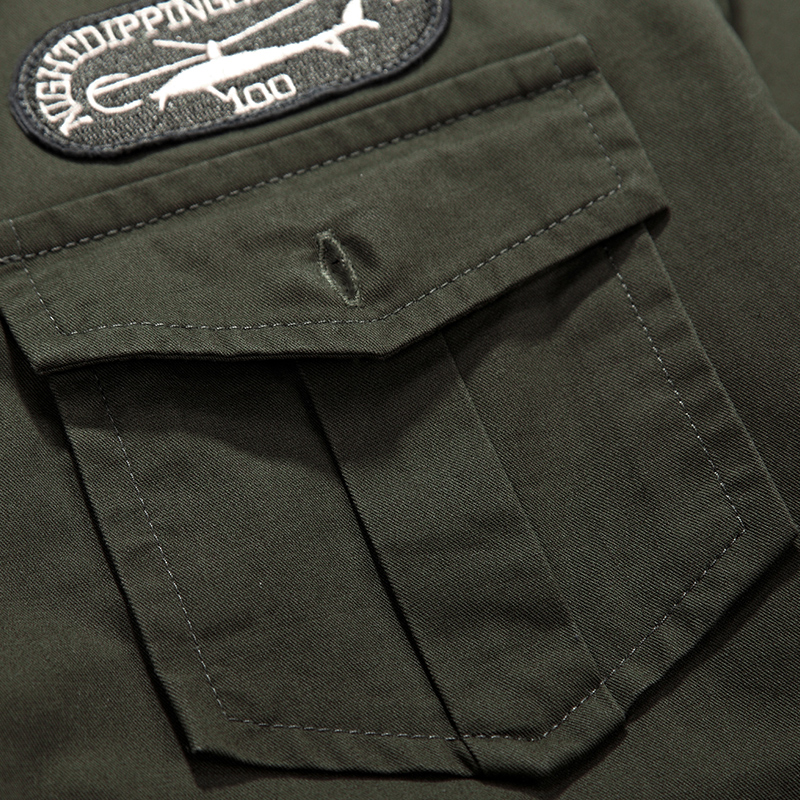 27bd09d8ec2 2016 Spring military quality men s casual brand army green shirts man  autumn 100% cotton khaki black long shirt M 5XL-in Casual Shirts from Men s  Clothing ...