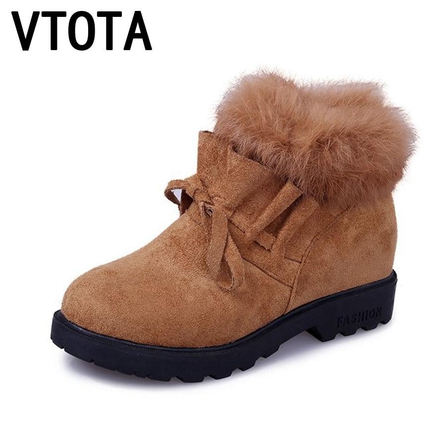 VTOTA Snow Boots Women Winter Boots Fashion Warm Casual Wedges Shoes Fur Platform Shoes Woman Botas Ankle Boots For Women E85