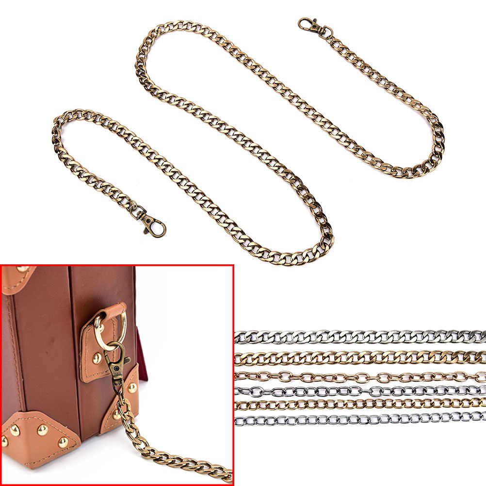 1pc 120cm DIY black bronze chain bag strap chain metal purse chain women's handbag shoulder straps chain