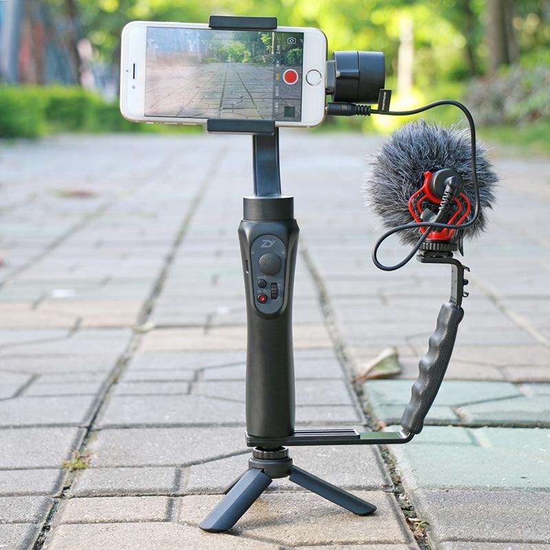Hot Shoe Mount Adapter Mikrofon Mini Videoleuchte für Digitale Kamera Kit O0P0