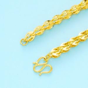 Image 4 - Collares de cadena clavcular fina para mujer, gargantilla de oro de 24 quilates, estilo bohemio, Bohemia boda, novia, joyería 2018