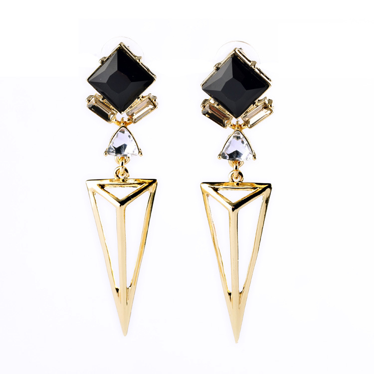 Fashion Designer Jewelry Art Deco Syle Geometric Gold Campbell Earrings Simple And Glamorous Edgy Statement Earrings For Party Earrings For Statement Earringsstatement Fashion Earrings Aliexpress