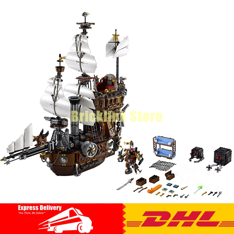 Free Shipping 2791PCS LEPIN 16002 Pirate Ship Metal Beard's Sea Cow Model Building Kits Blocks Bricks Toys Compatible With 70810 new bricks 22001 pirate ship imperial warships model building kits block briks toys gift 1717pcs compatible 10210