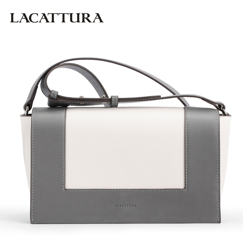 LACATTURA Luxury Women Handbag Designer Leather Shoulder Bag Evening Totes Brand Messenger Bags Lady Clutch Fashion Crossbody luxury genuine leather bag fashion brand designer women handbag cowhide leather shoulder composite bag casual totes