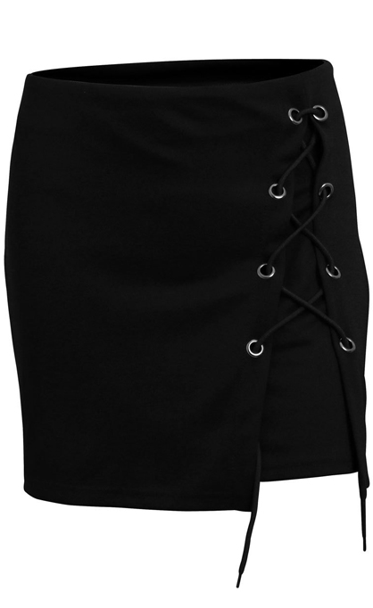 HTB1pb8jQpXXXXa apXXq6xXFXXXM - FREE SHIPPING Bandage Mini Skirt Black JKP231