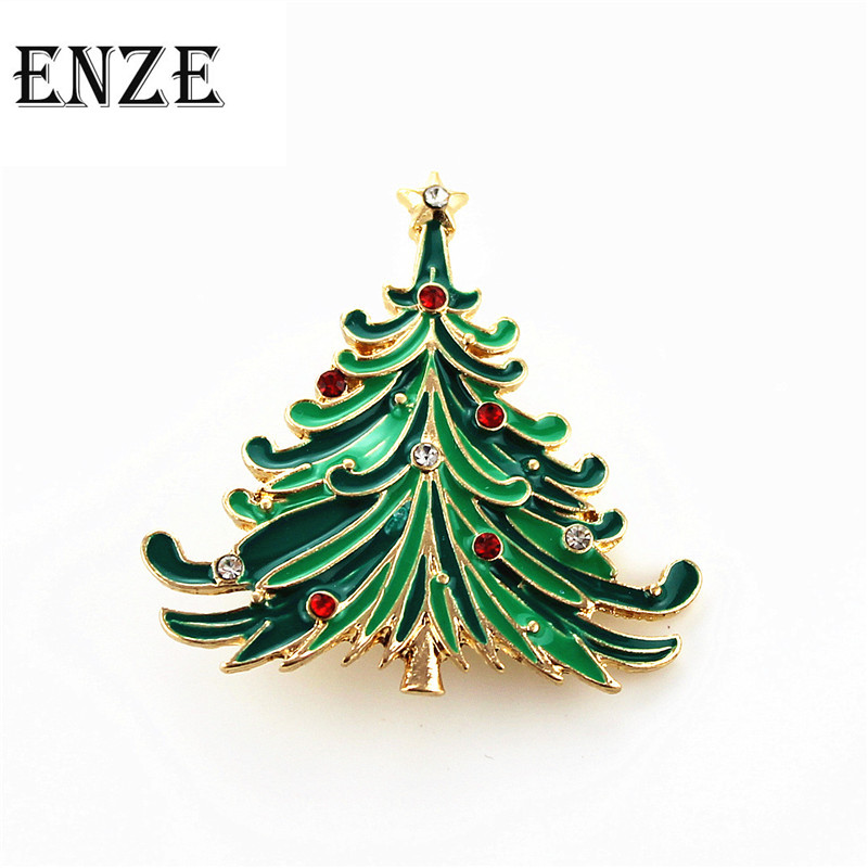 Free Shipping Fashion Woman Beautiful Brooch Brooches Green Christmas Tree Holiday Gifts Girls Boys High Badge Jewelry S Packing Of Nominated Brand