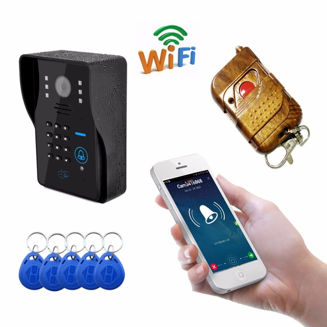 2016 New Wifi Doorbell video door phone Support 3G 4G IOS Android for iPad Smart Phone Tablet Control Wireless Door Intercom