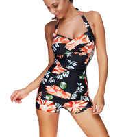 Costumi da bagno Vestito di Nuoto Conservatore delle Donne Stampato il vestito di Un Pezzo Grande Formato 3XL Spiaggia Costume Da Bagno 2020 Costumi Da Bagno Nuovo Monokini Tuta