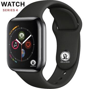 50% オフブルートゥーススマートウォッチシリーズ 4 42 ミリメートルのためのスマートウォッチ apple watch iphone 6 7 8 × 三星 sony アンドロイドスマートウォッチ電話