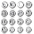 2017 DIY Fit Original Pandora Charms Bracelet  Alphabet Letter Charm With Clear CZ 100% 925 Sterling Silver Beads Jewelry Making