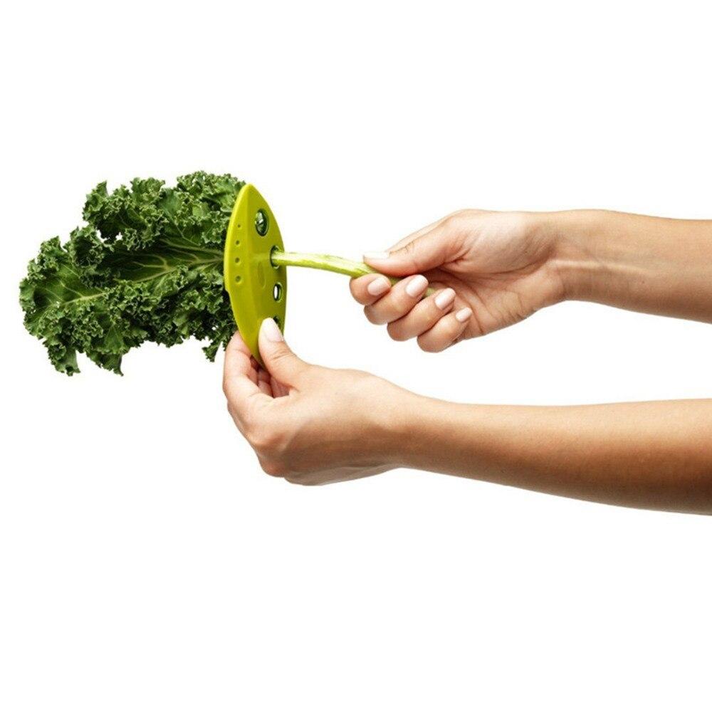 Utensilios de cocina de plástico Kale Acelga Collard Greens Hierba Separador de