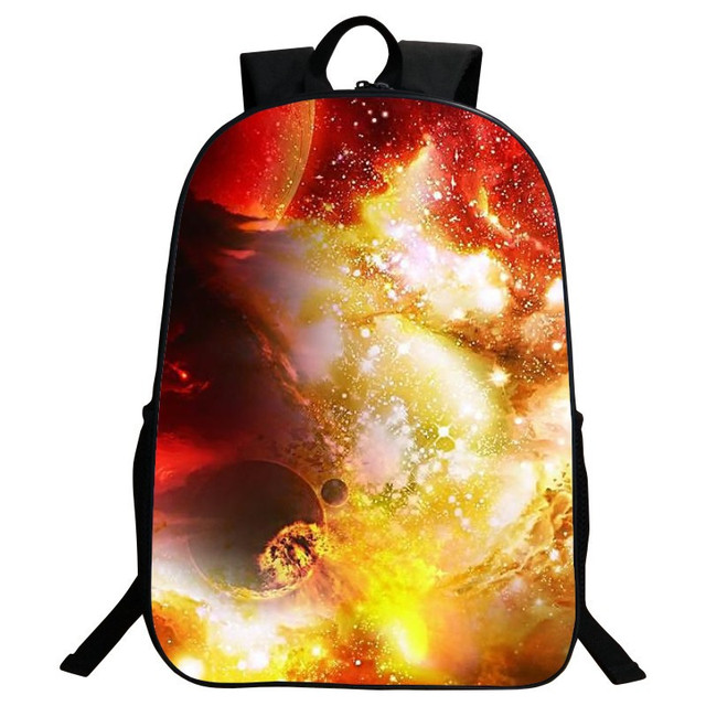 Special Offer Cool Polyester 16-Inch Starry Sky  School Bags for Teenager Girls Backpacks for Women Schoolbag for Kids Gifts