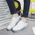 Básica 2017 Mujeres Los Zapatos de Cuero de Microfibra Súper Todo Clásico Plana zapatos casuales venta caliente 5 star de las mujeres zapatos de los planos zapatos Mujer-s