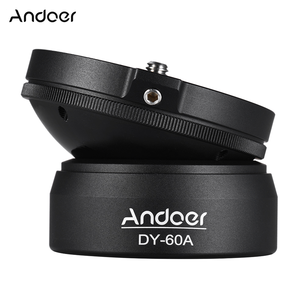 Andoer Tripod DY 60A Aluminum Alloy Tripod Leveling Base Panorama Photography Ball Head with 1 4