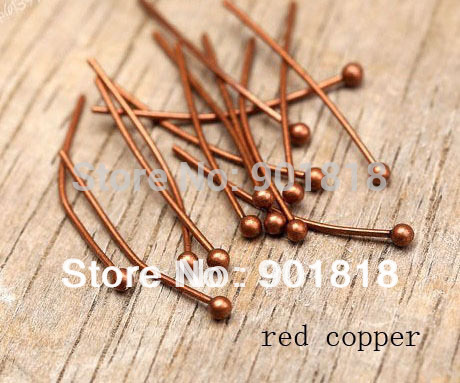 200pcs/bag jewelry findings gold Color ball head Pins findings 20mmx0.5mm (24 gauge) F352