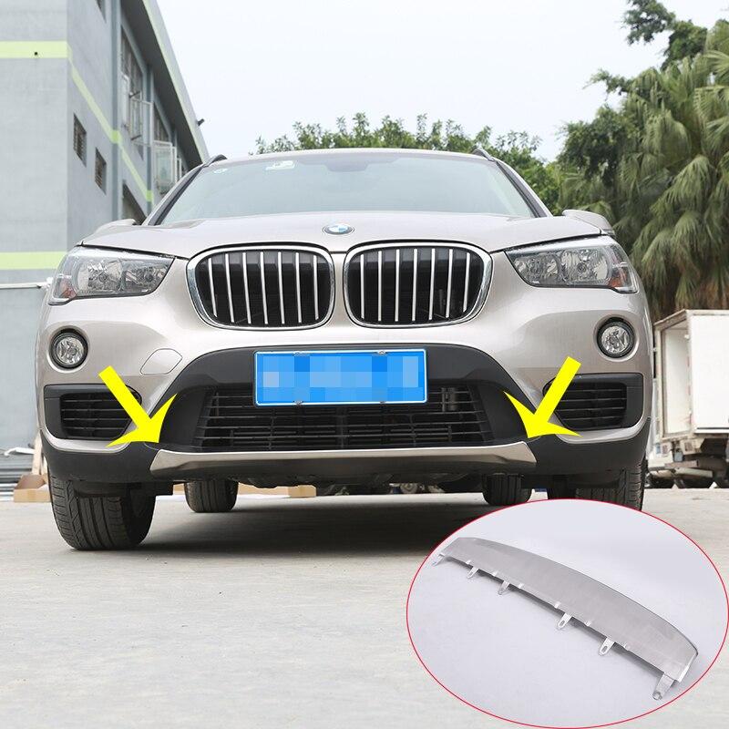 Pour BMW f48 X1 2016 2017 voiture-style 304 inoxydable pare-choc avant plaque protecteur couvercle garniture autocollants 1 pc