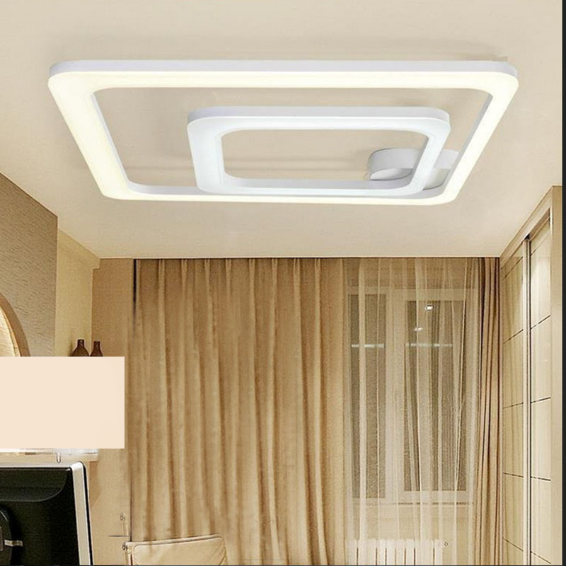 2017 New square shape led celling light led lamps and lanterns of contemporary and simple the