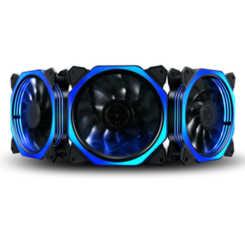 1PC 12cm Double Aperture Multi-colored Silent LED Computer Case PC Cooling Fan 12V Cooling Fan