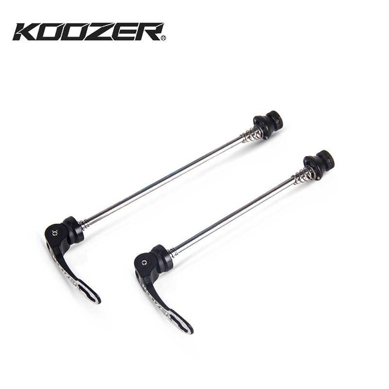 Koozer QR 249 الإفراج السريع ل الدراجة الجبلية MTB محاور رافعة الجبهة الخلفية 100 مللي متر 135 مللي متر 130 مللي متر فائقة ضوء عجلات دراجة أسياخ
