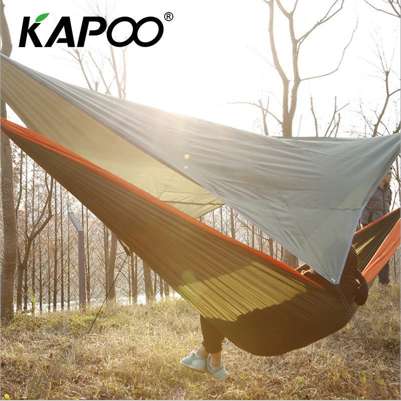 все цены на Portable Outdoor Leisure Hammock Beach Sunshade Cloth 200*195cm Outdoor Camping Necessary Sunshade Waterproof Gift