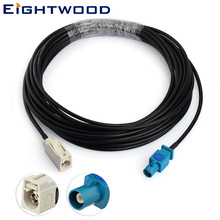 Eightwood RG174 Aerial Antenna Replacement Cable with Fakra B Jack Socket to Fakra Z1 Plug Pin FM Car Digital Radio Amplified fakra z female right angle to two dual fakra z male conversion radio fakra extension cable antenna adapter for vw