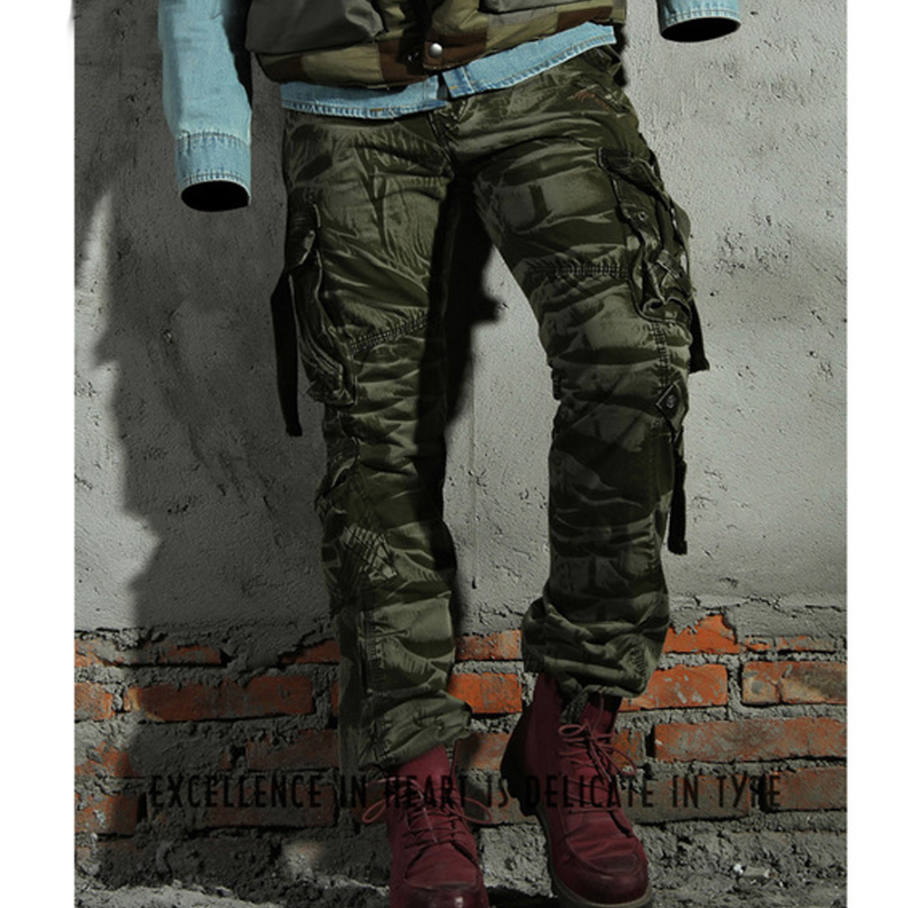 Cargo Pants Fashion Men Pants Winter Cotton Camouflage Military Pants Men Straight Casual Pants Casual Men's Trousers Size 29-40