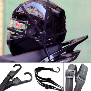 Image 2 - אוניברסלי 60cm אופנוע מטען רשת רצועת קבוע אלסטי אבזם חבל אופנוע קסדת נטו תחבושת שחור