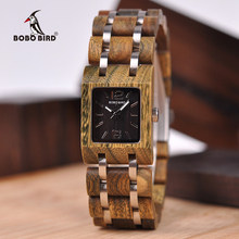 25mm Square Dial BOBO BIRD Female Watches Ladies Wood Quartz Wristwatch Timepieces For Girlfriend Gifts In Box L-S03 все цены