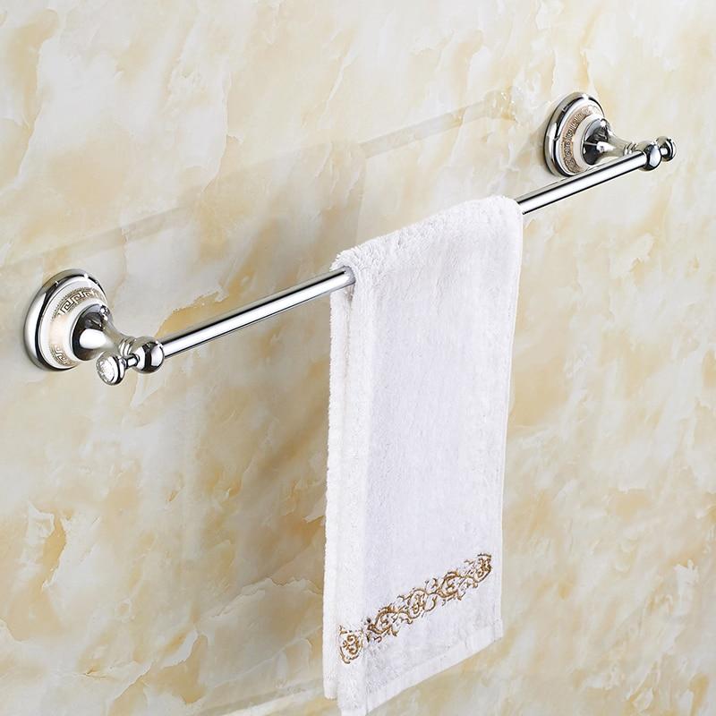Vintage Ceramic Towel Bar: Vintage Copper Ceramic Base Towel Bar Silver Polished