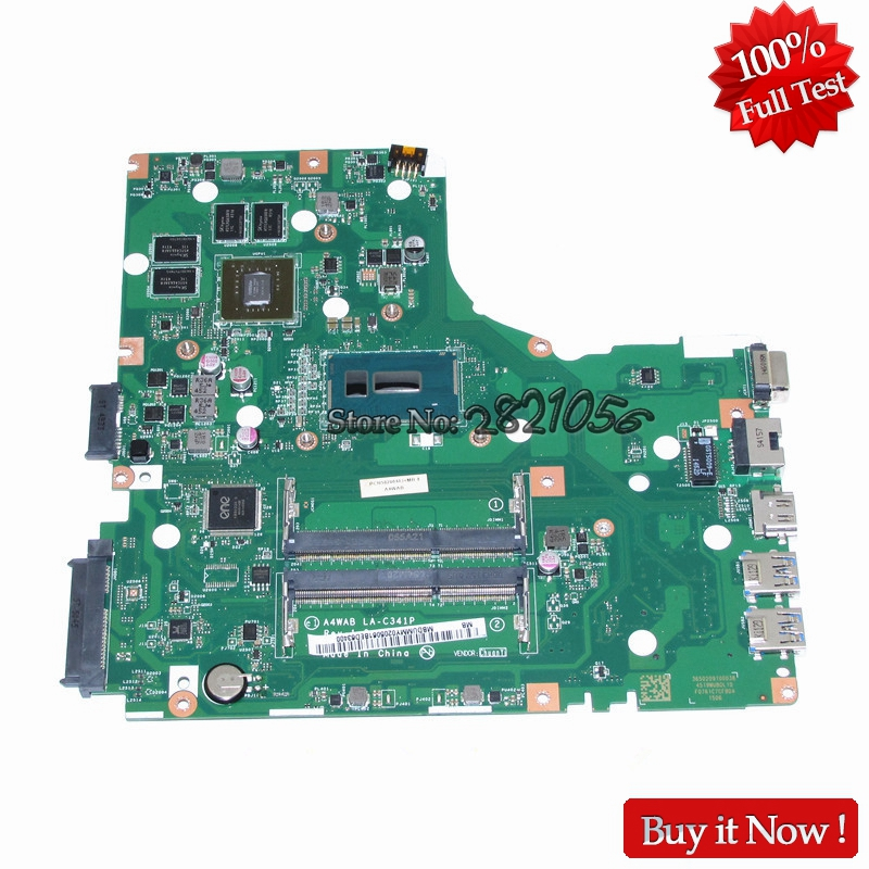 Nokotion Mainboard NBDUMMY0205 For Acer aspire E5-473 Laptop Motherboard A4WAB LA-C341P I3-5005U CPU GeForce 920M Video Card