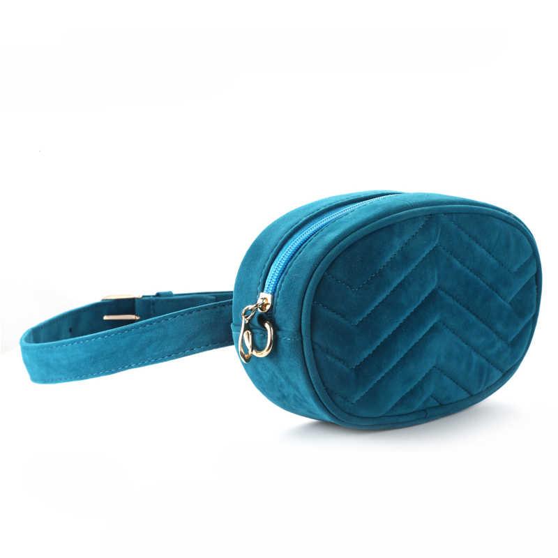 DAUNAVIA ウエストバッグ女性ウエストファニーパックベルトバッグ高級ブランドのバッグ 2019 新ファッション高品質コーデュロイウエストバッグ