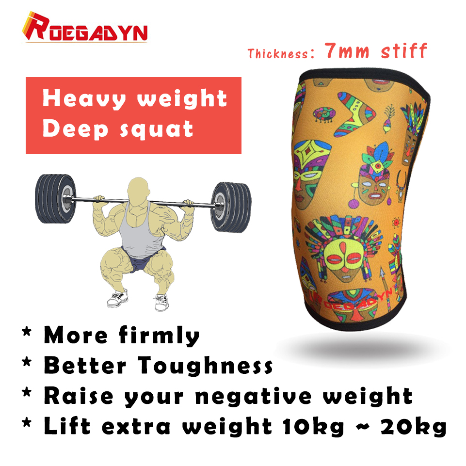 Professional CrossFit Knee Sleeve 30cm Length 7mm Neoprene Compression Knee Support Brace For WeightLifting,Deep Squat,DeadLift цена