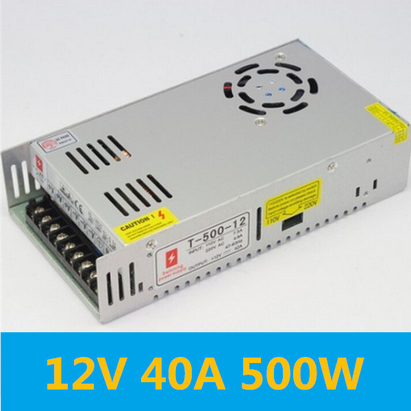 Switch transformer switching power supply switch converter 100-240V AC to DC 12V 40A 500W 12v adjustable voltage regulator 110v 220v converter ac dc led transformer regulable ce 0 12v 33a 400w switching power supply