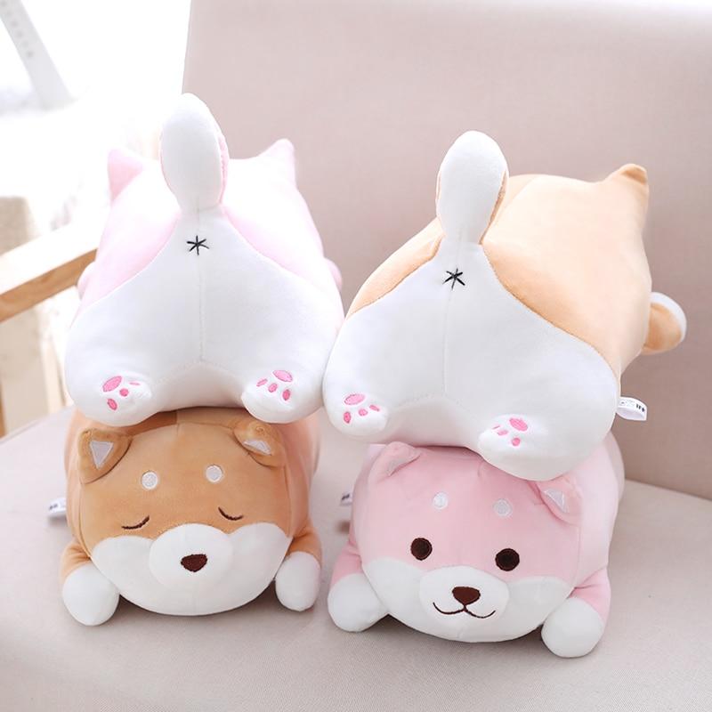 1pc 50cm Lovely Fat Shiba Inu Dog Plush Pillow Soft staffed Soft Cartoon Animal Toys Lovely Baby Children Christmas Gift Dolls