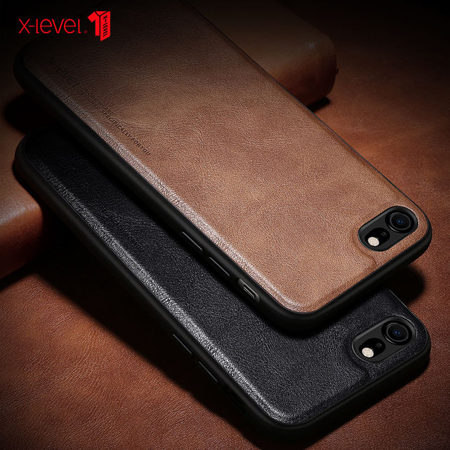 X-Level Leather Case For iPhone SE 2 2020 8 7 6 6s Plus Funda Original Shockproof Back Phone Cover Coque For iPhone 6 6s 7 8 2