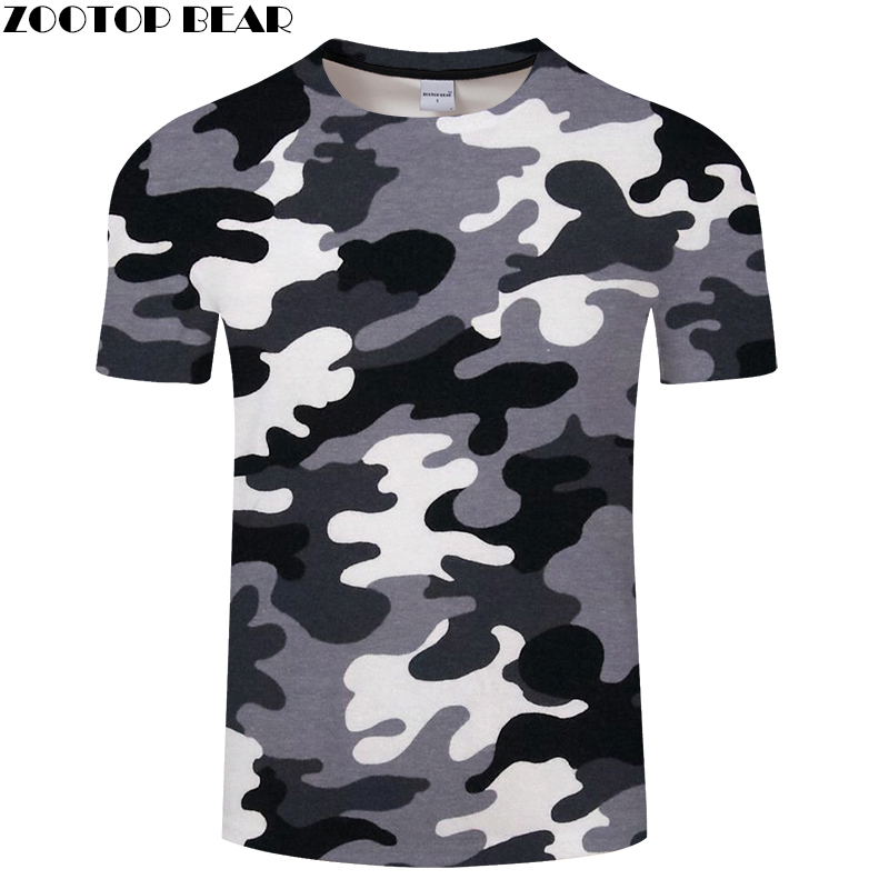 Red Gray green camouflage Clothing 3d Printed Tshirt Men Women Short Sleeve T-shirt Brand Top T shirt Funny Tees Asian size 6xl