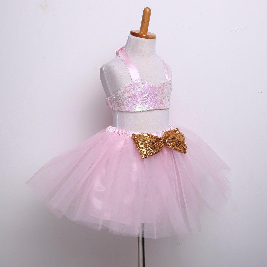 Модная новинка вечернее платье принцессы для маленьких девочек цветочные платья с пачкой с кружевом и бантиком платье с топом комплекты од...