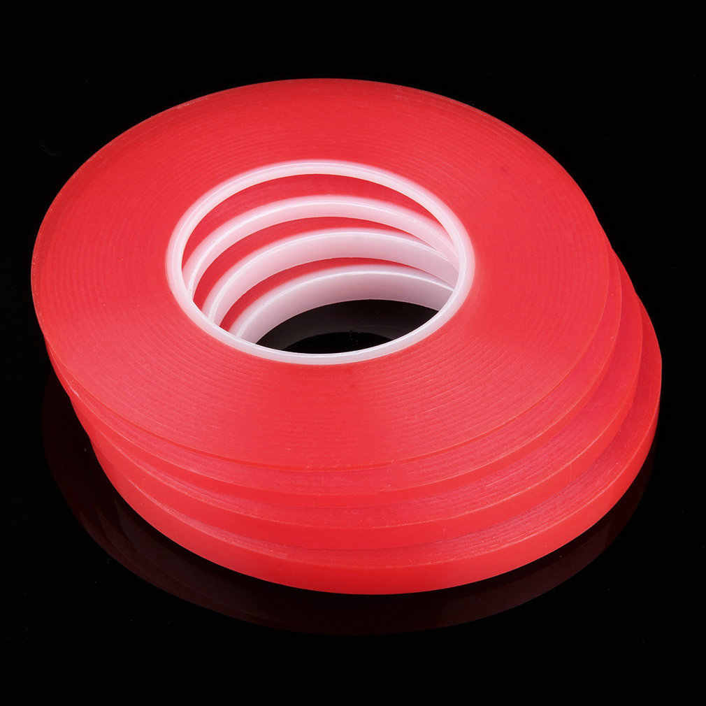 2mm 25M Strong Acrylic Adhesive Red Film Clear Double Sided Tape Sticker for Mobile Phone LCD Pannel Display Screen Hot Sale