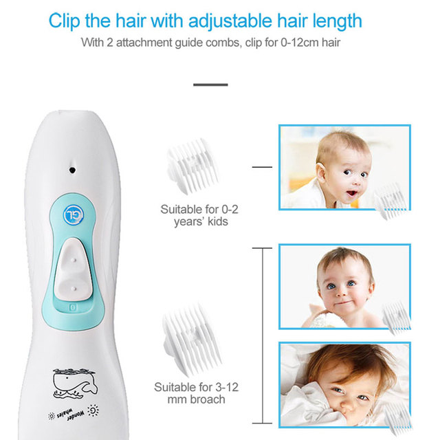Brand GL Electric Baby Hair Clipper Professional Rechargeable Waterproof Hair Trimmer for Kids & Children with Haircut Models