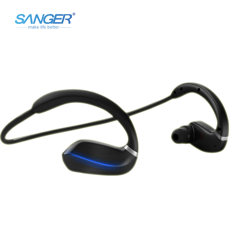 SANGER Wireless Earphone Bluetooth 4.1 Headset Bluetooth Earpiece Sport Running Headphone Stereo Earbuds With Microphone free shipping wireless bluetooth headset sports headphone earphone stereo earbuds earpiece with microphone for phone