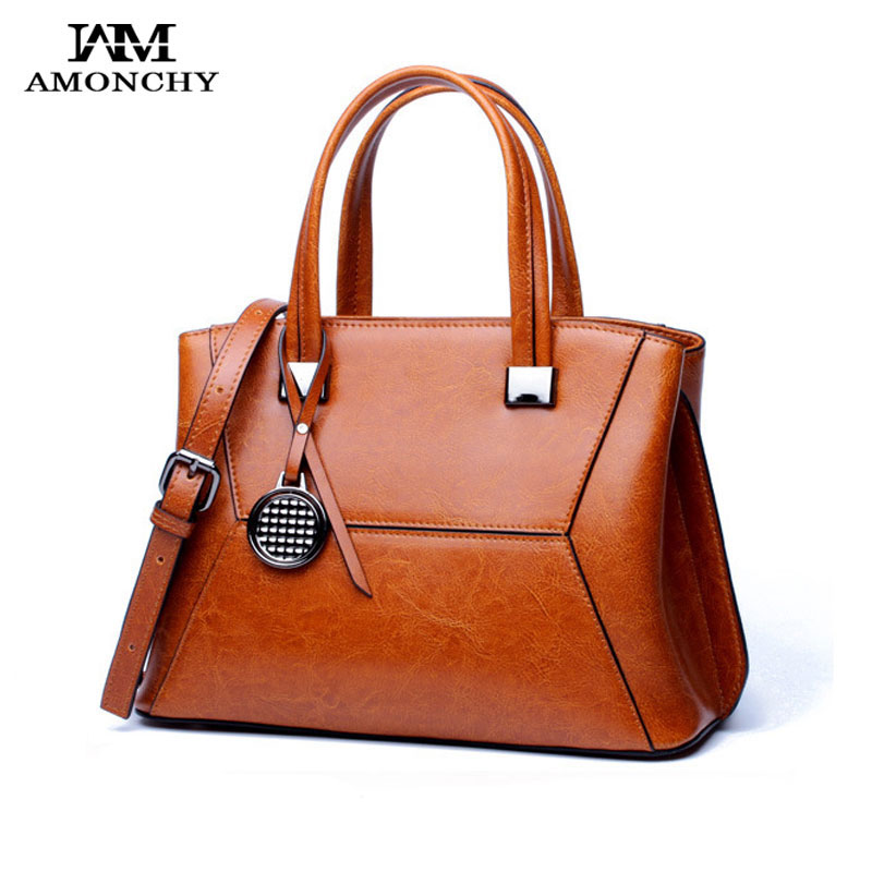 AMONCHY Spring 2018 Women Handbags Genuine Leather Shoulder Messenger Bags New Brand Ladies Tote Bags Cow Skin Pendant Shell Bag 2017 new women leather handbags fashion shell bags letter hand bag ladies tote messenger shoulder bags bolsa h30