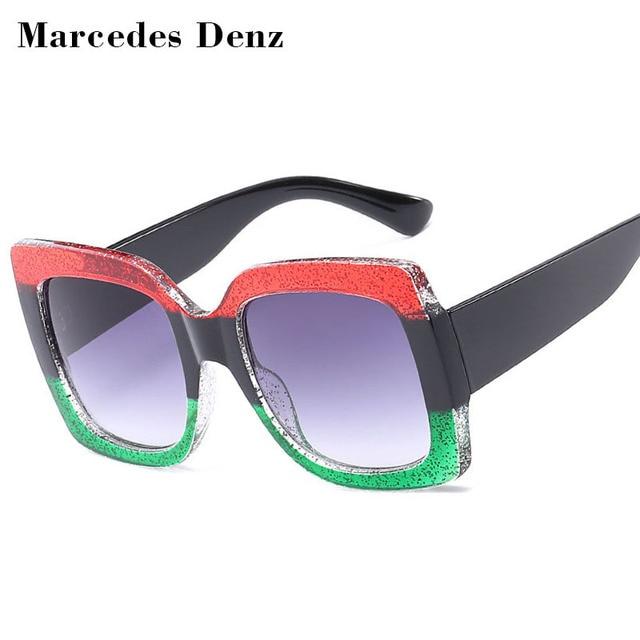 ac4752e1271 2018 NEW Oversized Square Sunglasses Women Luxury Brand Designer Vintage  Sunglass Fashion Big Frame Sun Glasses UV400